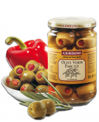 Pepper Stuffed Green Olives
